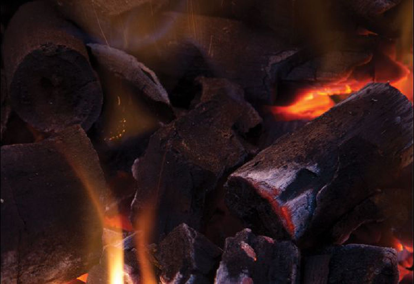 Picture Of Burning Charcoal